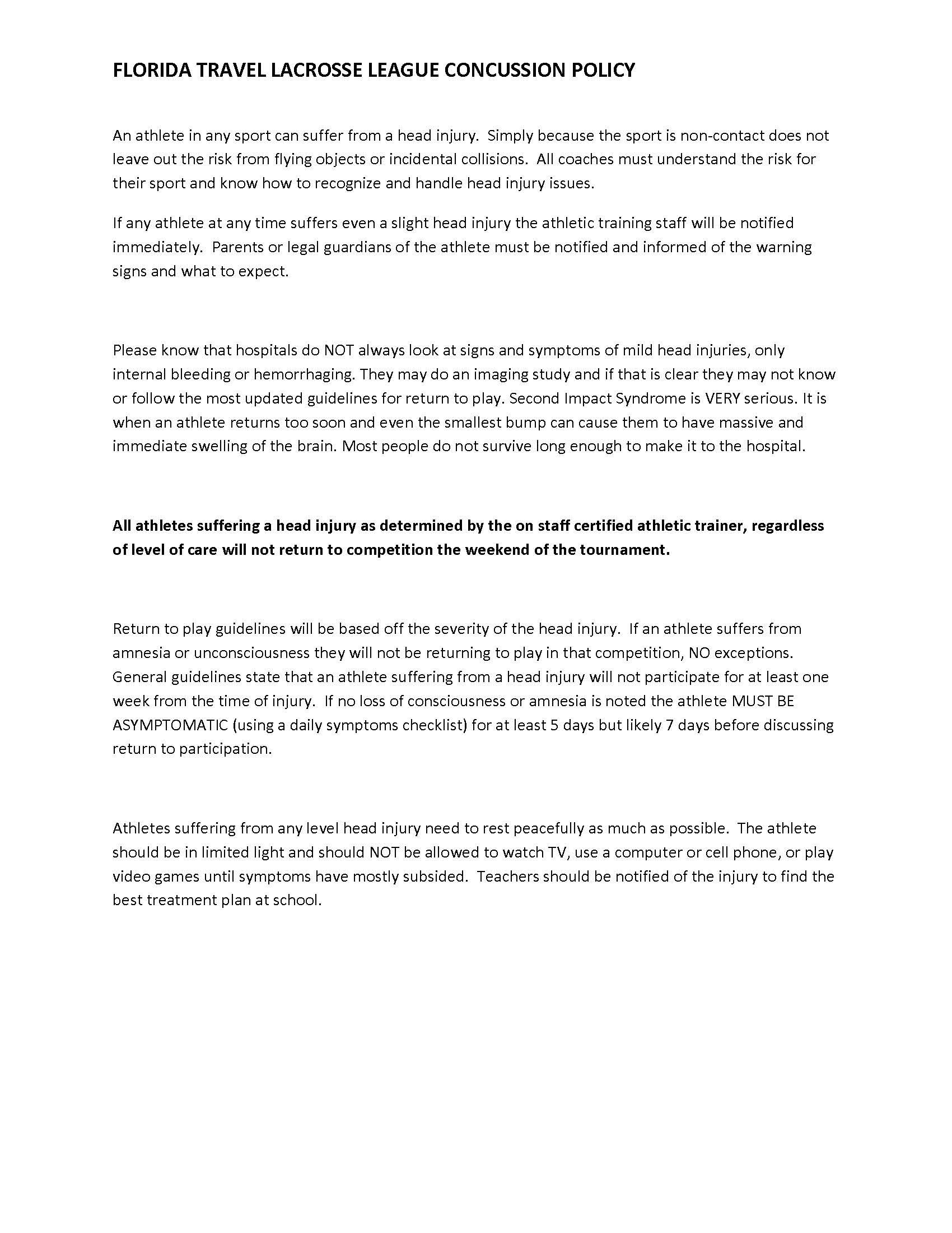 FTLL CONCUSSION POLICY PDF